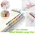 Novelty Solid Color Hollow Out Metal Binder Clips Notes Letter Paper Clip Lot