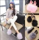 Womens Faux Fur Round Toe Loafers Flat Casual Boat Shoes Pumps Low Heels HotE645