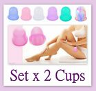 Set x 2 Silicone Vacuum Cupping Suction Body Massage Cup Anti Cellulite Slimming <br/> KEEP YOUR BODY FIT, SAY GOOD BYE TO CELLULITE!