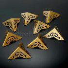 4x Vintage Corner Protection Brass Guard Protector Jewelry Case Chest Wholesale