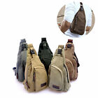 Fashion Men's Canvas Satchel Military Bag Cross Body Handbag Messenger Shoulder