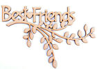 Wooden mdf Branch Friend Friends Best Friends Branch Shape Family Frame Gift