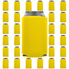 Yellow Can Coolers Blank 12 oz.Beverage Insulator Party Supply Wedding Favor