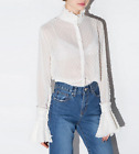 White Dee Portrait People Dot Blouse Top US 2 4 6 S M L Free Self Delivery