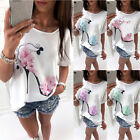 UK Plus Size Womens Loose Long Top T-shirt Ladies Casual Party Mini Dress Blouse