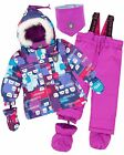 Deux par Deux Little Girls' 2-Piece Snowsuit Nap on the Floor, Sizes 18-36M
