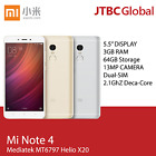 New Xiaomi Redmi Note 4 5.5 inch 4G 64GB 2.1Ghz Deca Core Factory Unlocked Phone <br/> FREE FEDEX 2DAY  &rdquo; 1 YEAR WARRANTY  &rdquo; FACTORY UNLOCKED