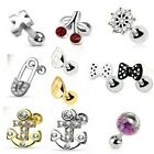 Novelty Steel Cartilage Upper Ear Stud Earring Helix Bar - 1.2 x 6mm