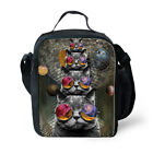 Cool Cat Insulated Lunch Box Food Bag Shoulder Pouch Cooler Tote Bag School Work