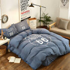 PURE ERA 100% Washed Cotton Home Collection Bedding Duvet Cover Sets Route 66