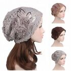 Muslim Women Lace Flower Head Cap Chemo Beanie Cancer Hat Beigh High Quality New