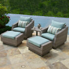 Rst Brands Cannes 5 Piece Club Chair and Ottoman Set
