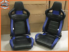 Pair BB6 Faux Leather Reclining Bucket Sports Seats Fits LAND ROVER DEFENDER