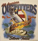 ALL AMERICAN OUTFITTERS TARPON THE SILVER TRAIN FISH FISHING SHIRT #1841