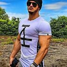 New Men's Basic Tee Fitness Gym Musclefit Training Crew Neck Casual T Shirt