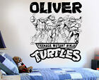 Personalized Wall Sticker Teenage Ninja Turtles Customized Name Decal Vinyl Text