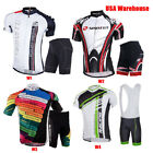 Men's Cycle Jersey Shorts Sets Pro Team Bike Shorts Gel Padded Cycle Clothing