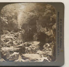Young Couple Fairy Glen Bettws y Coed North Wales HC White  Stereoview 1902