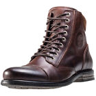 Sneaky Steve Rostov Mens Brown Leather Casual Boots Lace-up Genuine Shoes