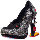 Irregular Choice Minnie Mouse Womens Shoes Black Multicolour New Shoes