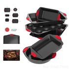 6 Piece Nonstick Bakeware Set Baking Sheet With Cake Loaf And Muffin Pans