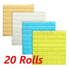 20Rolls Wholesale 3D Brick Pattern Wallpaper Modern Background TV Bedroom Decor