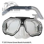 Land & Sea DUNK ISLAND Silitex Adults MASK & SNORKEL SET Featuring Superb Vision