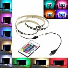 1M 5M DC 5V 5050 60SMD/M USB RGB LED Strip Lamp Bar TV Back Lighting Kit+ Remote