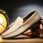 British Men's Loafers Shoes Slip Ons Soft Driving Moccasin Gommino Breathable