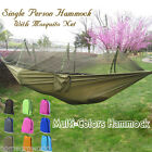 Single Person Camping Travel Outdoor Tent Hanging Hammock Bed With Mosquito Net