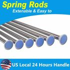 Stainless Spring Extendable Net Shower Curtain Tension Rod Pole Rail