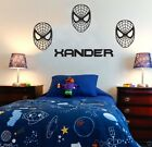 SPIDERMAN Personalised ANY Name Disney Style Boys Girls  WALL STICKER transfer