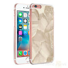 Marble Brown Cream Clear Sides Hard Case Cover For Various Mobile Phones