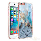 Marble Blue Cream Clear Sides Hard Case Cover For Various Mobile Phones