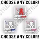 Baby on Board Jedi Sith Star Wars Cute Funny Kids Humor Decal Vinyl Sticker $2.99 USD