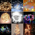 Pretty 2/4m String 20/40 LED Copper Wire Fairy Lights Battery Powered Decor Room