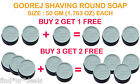 Godrej SHAVING ROUNDS Soap Cream LATHER 50 GM-BUY 2 GET 1 & BUY 3 GET 2 FREE