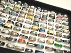 15/50/100/500 Wholesale Mix lot Fashion Stainless Steel Men Women Rings