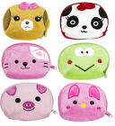 Colorful Animals Soft Plush Coin Purse/ Key chain/ Backpack Clip