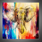 Modern Abstract Canvas Painting Elephant Printed Wall Art Unframed Home Pictures