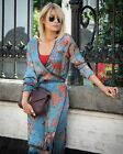 WOMEN PRINTED KIMONO DRESS SKY BLUE S,M,L REF. SS17 BLOGGERS FAVORITE S M L