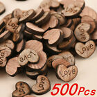 heart decorations - 500pcs Rustic Wooden Wood Love Heart Wedding Table Scatter Decoration Crafts