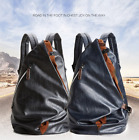 Men's Fashion Leather School Travel Large Bag Laptop Backpack Computer Notebook