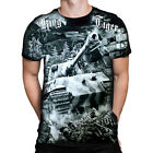 KING TIGER - Black T-Shirt with all round print wrap