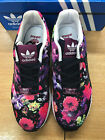 Junior Adidas ZX Flux Print Magenta/Pink/White  Trainers RRP £46.99
