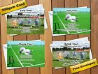Zorb Bubble Football Themed Birthday Party Invitations / Thank You Cards