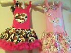 NWT PINK TUTU FUN PARTY DRESS 2/3T FLORAL ELEPHANT/ CAMOUFLAGE HEART CUTE