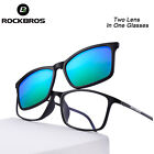 ROCKBROS Sunglasses Double Lens Polarized Lens Cycling Outdoor Glasses Goggles