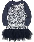 Biscotti Girls' Delovely Dress with Tulle Bottom Navy, Sizes 4-12