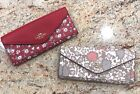 NEW Coach Soft Envelope Wallet (Yankee Floral or Wild Heart) Patterns $150 MSRP